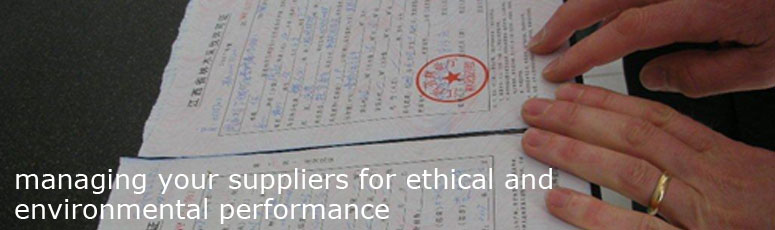 Managing your suppliers for ethical and environmental performance